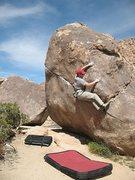Rock Climbing Photo: Working the slopers on Swinging Richard Direct (V2...