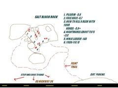 Rock Climbing Photo: Rough map.