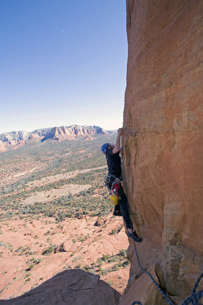 Rock Climbing Photo: Santiago Fernandez, age 14, on pitch 3 of the Mace...