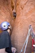 Rock Climbing Photo: Richard Fernandez belayed by his son Santiago on t...