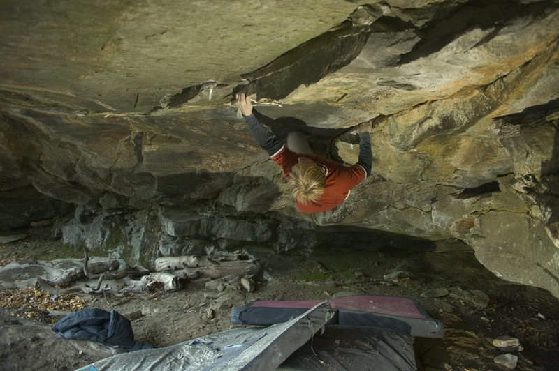 Rock Climbing Photo: jamie on project