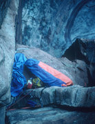"Rock Climbing Photo: The ""Better Bivy"" on top of pitch 7, dur..."