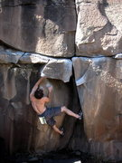 Rock Climbing Photo: Pulling into the start