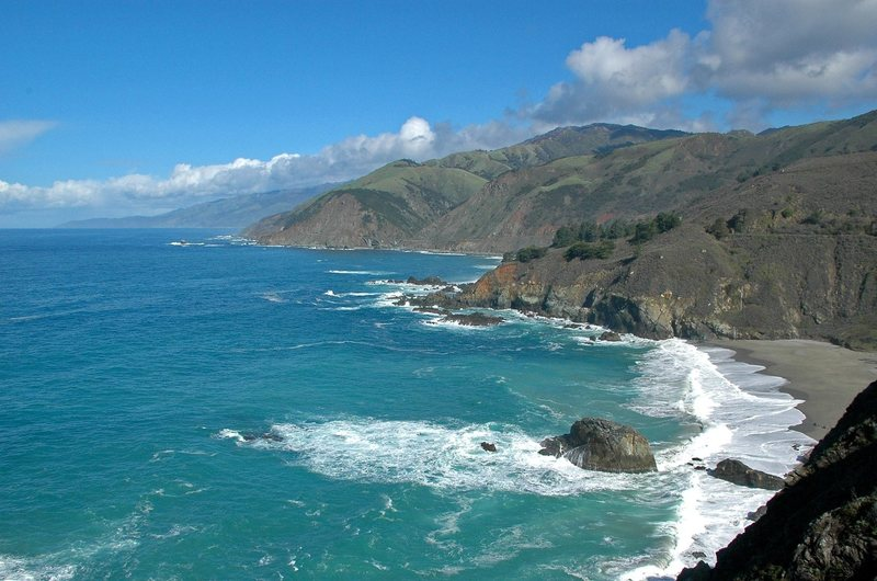 The beautiful coast of Big Sur
