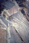 Rock Climbing Photo: FA of Cutting Edge