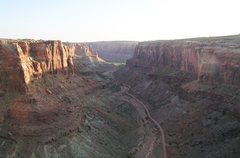 Rock Climbing Photo: Looking down Spring Canyon to the Green River from...