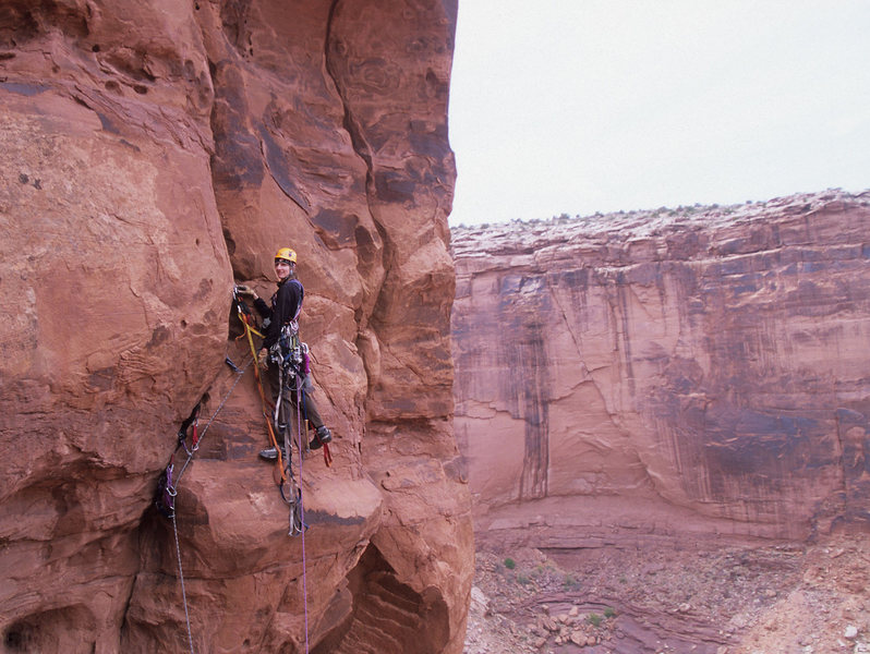 Rock Climbing Photo: Lisa Foster on the first pitch of The Things We Do...