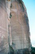 Rock Climbing Photo: Here's a good photo of most of the climb.  Ian lea...
