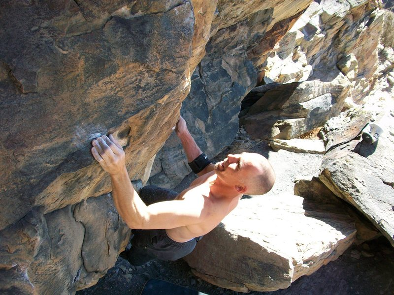 Rock Climbing Photo: Cold Fusion, V6.
