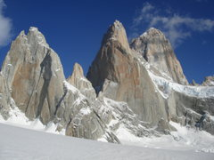 Rock Climbing Photo: Southeast faces of St. Exupery, Poincenot and Fitz...