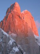 Rock Climbing Photo: Sunrise on the mighty SE face of Poincenot