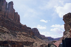 Rock Climbing Photo: Driving down Spring Canyon. Plumb Tower is on the ...