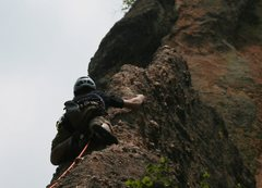 Rock Climbing Photo: lead up Lander Turkey Shoot