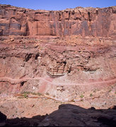 Rock Climbing Photo: Looking across the canyon from half way up the tow...
