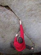 Rock Climbing Photo: In the fingerlock section of 'Finger Feast'
