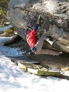 Rock Climbing Photo: Bouldering on the Methane Boulder, Tramway