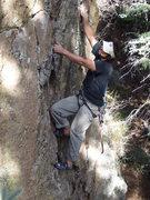 Rock Climbing Photo: Miguel Hoffman starting up Little Viking before it...