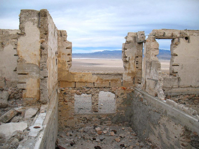 All that remains of the hotel in Blair, Central Nevada