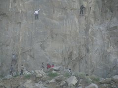 Rock Climbing Photo: It's a gym out there! Climbers on Ground Zero (5.1...