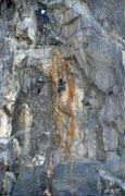 Rock Climbing Photo:   Shot of climbers on Tangerine Dream