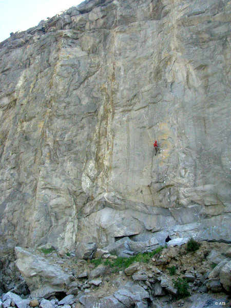 Climbers on Gypsy (5.13b), The Shield