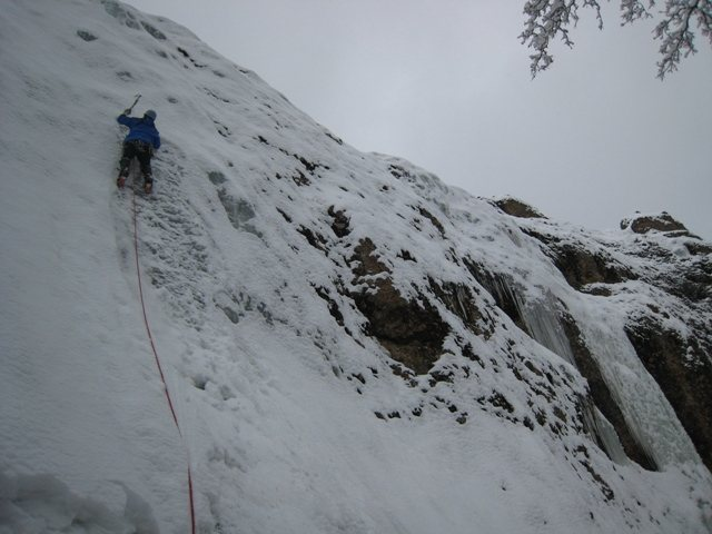 "Rock Climbing Photo: B Smoot on pitch one of ""Fling"".  Note G..."
