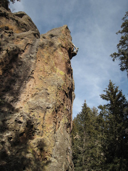 Starting into the final arete. March 2009.