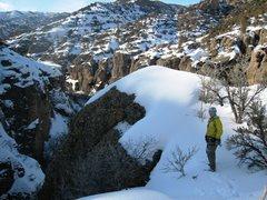 Rock Climbing Photo: Summit rim at top of Motor Mouth.