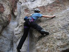Rock Climbing Photo: Patty Black on the FA of Five Feet High and Rising...