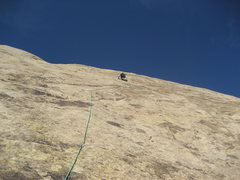 Rock Climbing Photo: Higher on third pitch