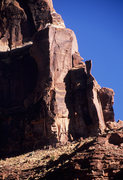 Rock Climbing Photo: Looking up at Pointy Tower.  The Original Route ro...
