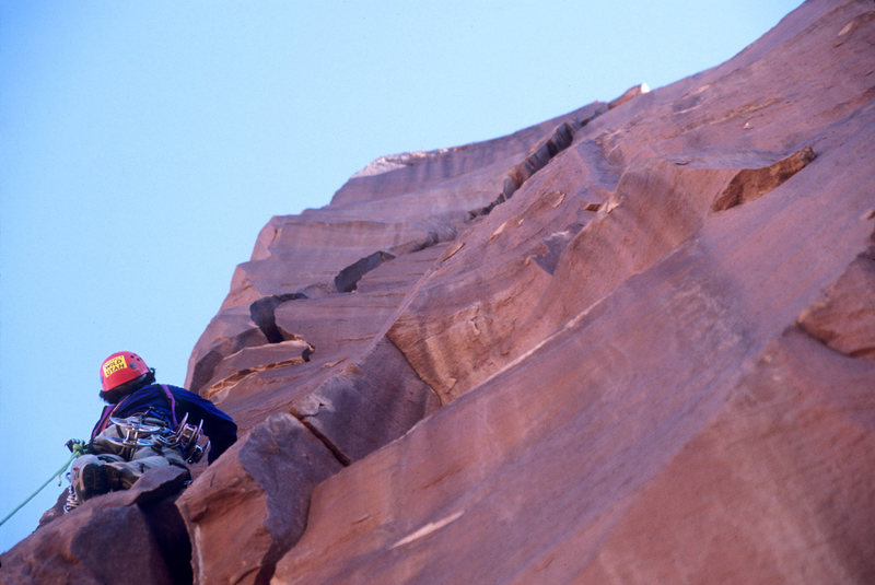 Rock Climbing Photo: John Glime wondering if the two pieces he has that...