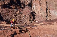 Rock Climbing Photo: Ian McAlexander jugging pitch two.