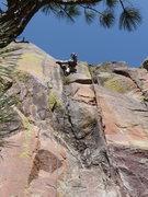 Rock Climbing Photo: Scott leading Quiet Desperation.