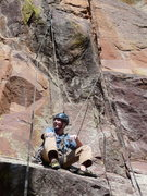 Rock Climbing Photo: Getting a good rest after all the work of placing ...