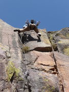 "Rock Climbing Photo: Scott going dynamic ""Quiet Desperation""."