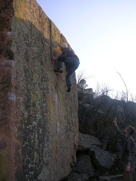 Rock Climbing Photo: Good height depictor.