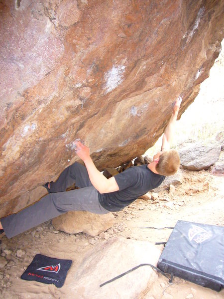 Rock Climbing Photo: Drilled Pockets Right
