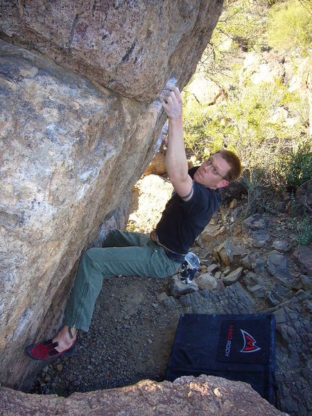 Rock Climbing Photo: Broken Rubber V6 at Gates Pass, Tucson, AZ