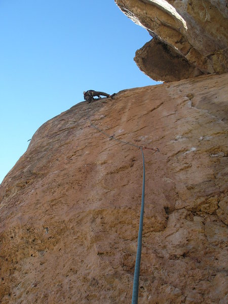 Rock Climbing Photo: The Gym Arete. As you can see, it's not an arete a...
