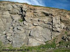 Rock Climbing Photo: Interplanet Janet (5.6), Riverside Quarry