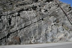 Rock Climbing Photo: Date Wall Routes from left to right: 1. The Flirt ...