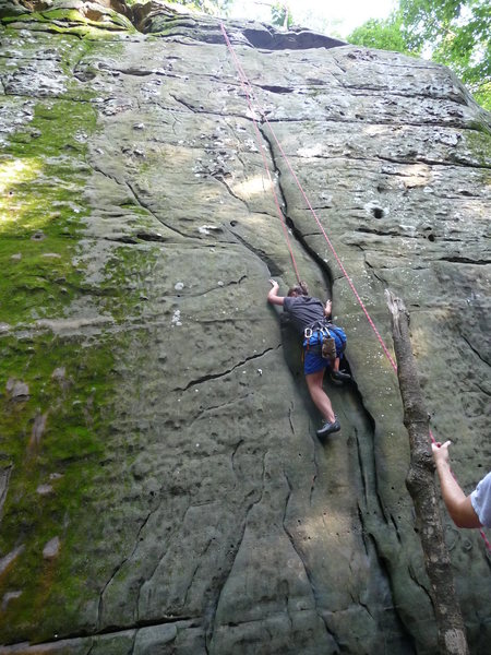 Rock Climbing Photo: Jackson Falls, not sure what route...