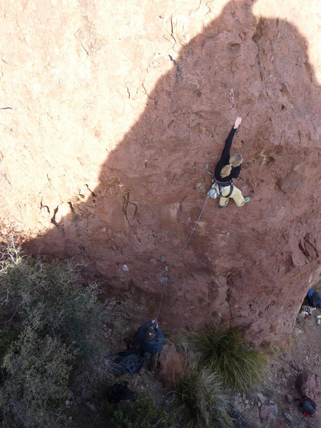 Rock Climbing Photo: Jen Payne on the FA of Whale Tail Pilates