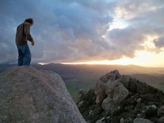 Rock Climbing Photo: On bishop peak