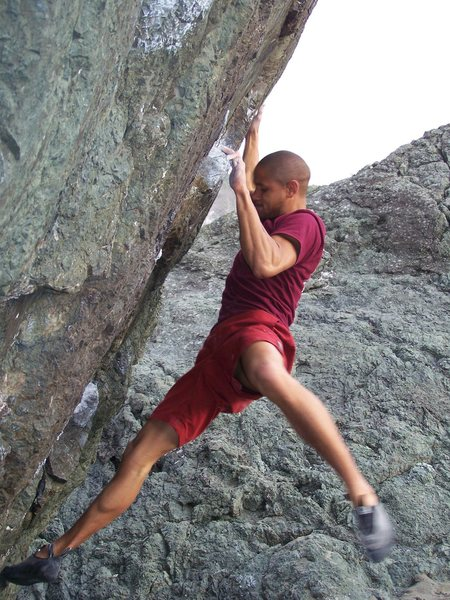 Joe kill'n one of the triangle boulders