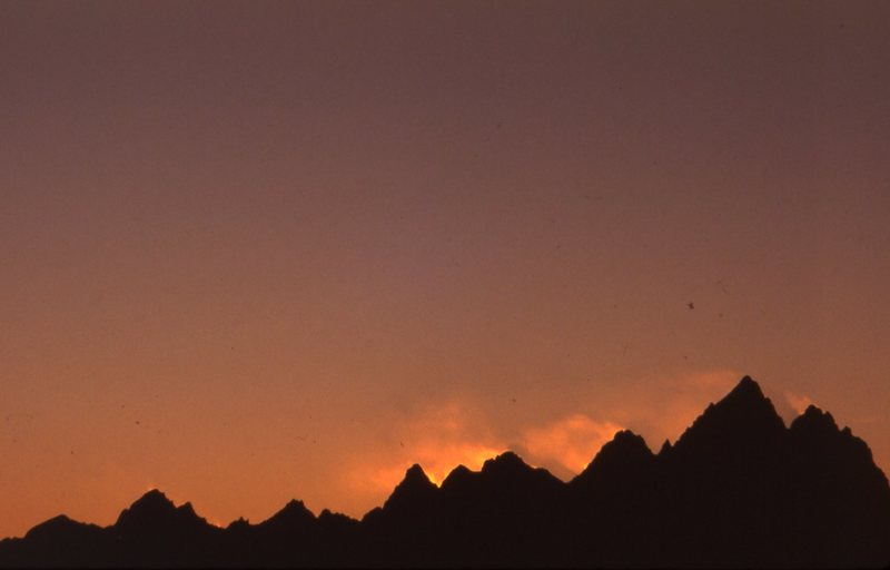 Teton skyline.