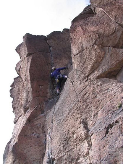 Rock Climbing Photo: Great rest stance before the finishing moves.