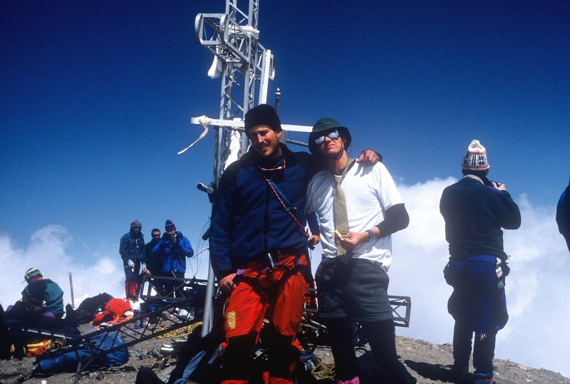 El Pico De Orizaba with Bob Markewich. By train. Spring Break 1993.