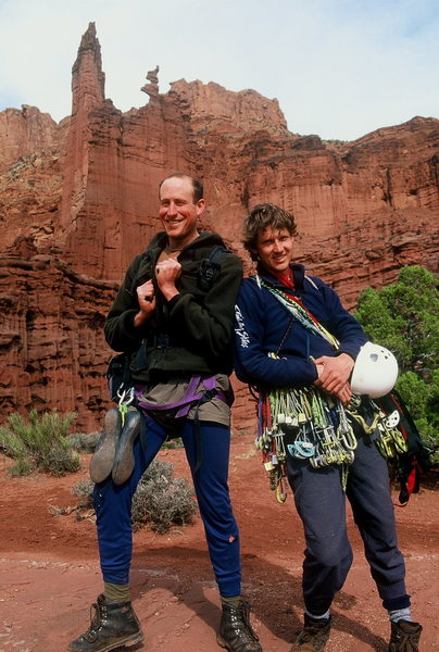 Bob Markewich and Alan Ream.  Fisher Towers.  1997?